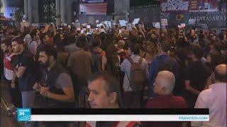 مظاهرات في إسطنبول ضد إغلاق قناة تلفزيونية مؤيدة للأكراد