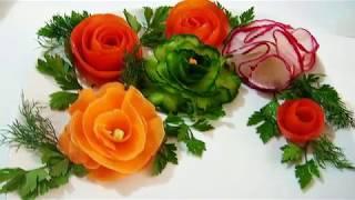 Красивое оформление блюд к праздничному столу