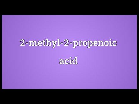 Header of 2-Methyl-2-Propenoic Acid
