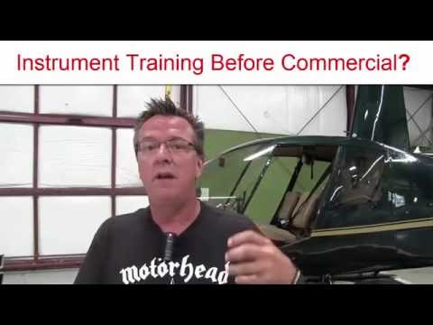 Should I do my IFR Instrument Training before Commercial Rating?