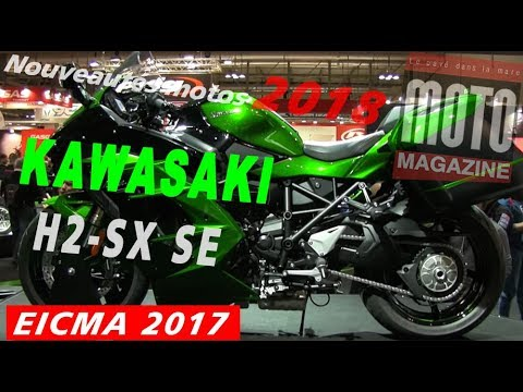 kawasaki h2 sx 2018 une gt turbocompress au salon moto de milan eicma 2017 youtube. Black Bedroom Furniture Sets. Home Design Ideas
