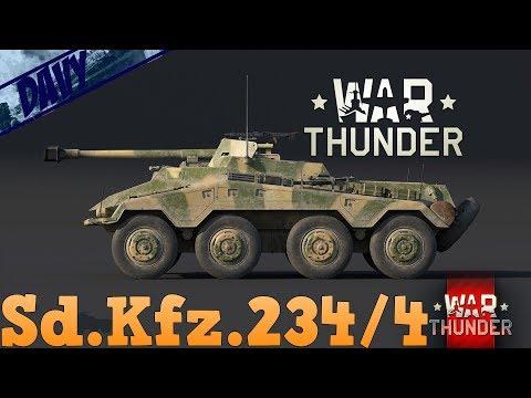 War Thunder - Sd.Kfz.234/4 Schwerer Panzerspähwagen! Cacciacarri tedesco