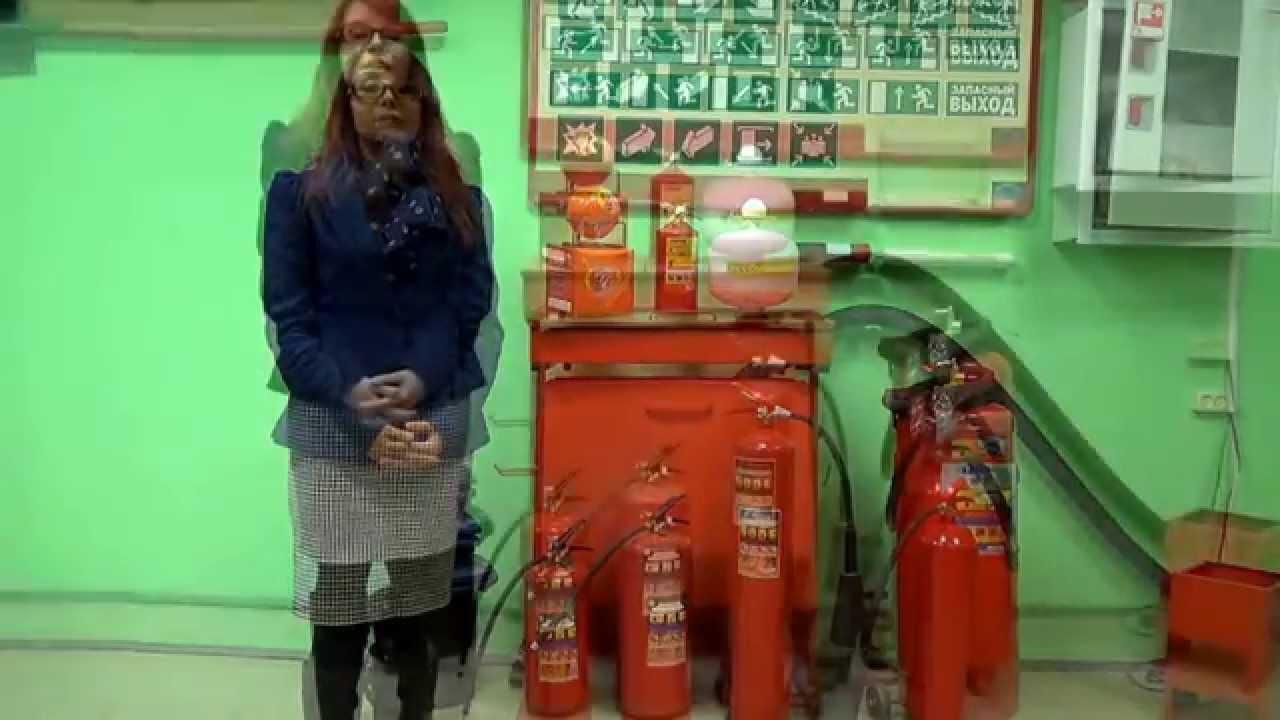 Виды огнетушителей и их характеристики