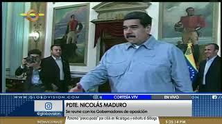 Nicolás Maduro se reune con gobernadores de oposición