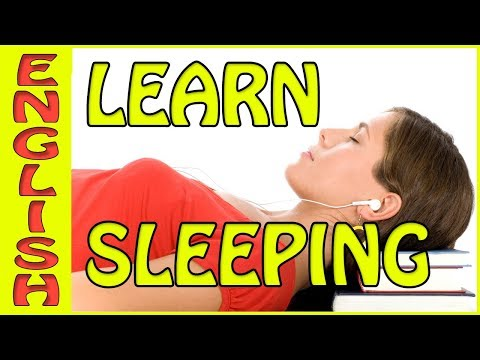 Learn English Sleeping  Its true, this  can increase your vocabulary تعلم الإنجليزية النوم