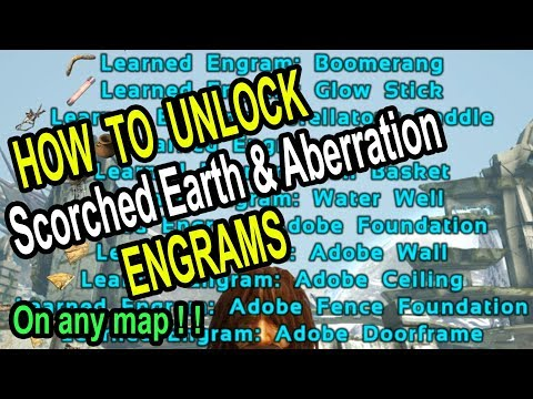 ARK HOW TO UNLOCK SE & AB ENGRAMS ON EXTINCTION or other maps! Ark