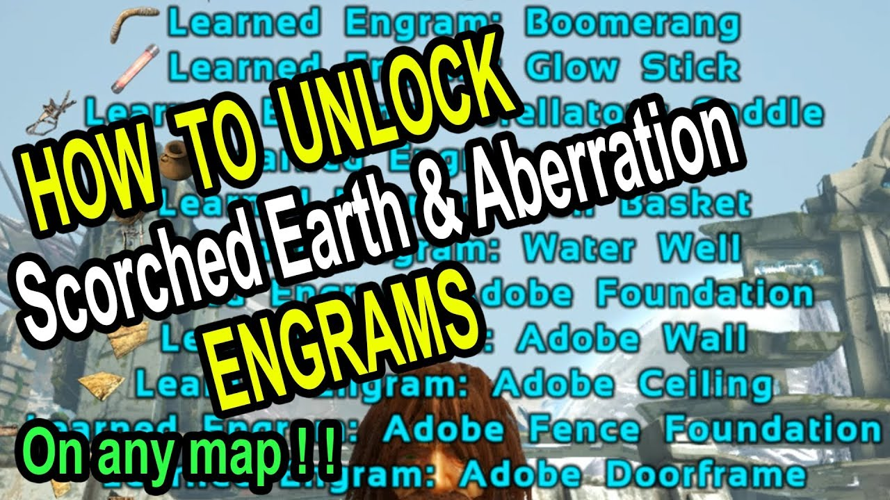 ARK HOW TO UNLOCK SE & AB ENGRAMS ON EXTINCTION or other maps! Ark Survival  Evolved Extinction Guide