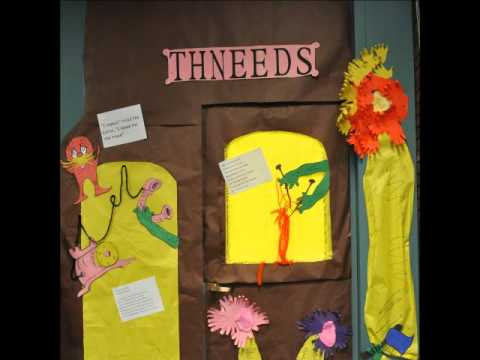 The Lorax door Decorations with Audio - YouTube
