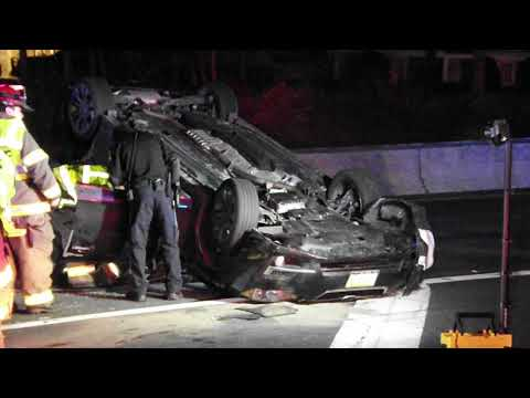 VIDEO: Route 208 Rollover In Hawthorne Sends 2 To Hospital