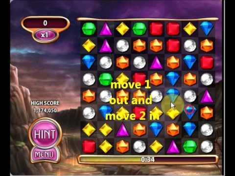 [No Cheat!] Bejeweled Blitz Elite Technique Tutorial-Basic 寶石方塊 滯空法教學 基礎篇