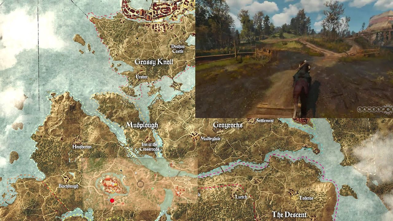 The Witcher 3 - Map - YouTube
