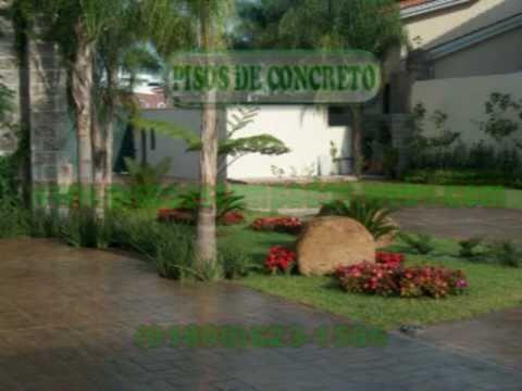 Piso estampado de concreto para residencias y patios youtube for Pisos para patios