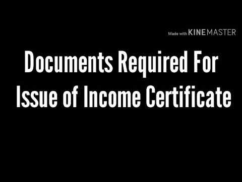 Documents Required For Issue Of Income Certificate