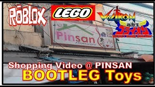 BOOTLEG TOY SHOPPING @ PINSAN | Bootleg LEGO and ROBLOX | NINJAGO - VOLTRON (RAW Video)