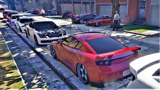 GTA5 STANCE JDM CAR MEET! ELEGY RH8 BUILD! EZKO MEET!