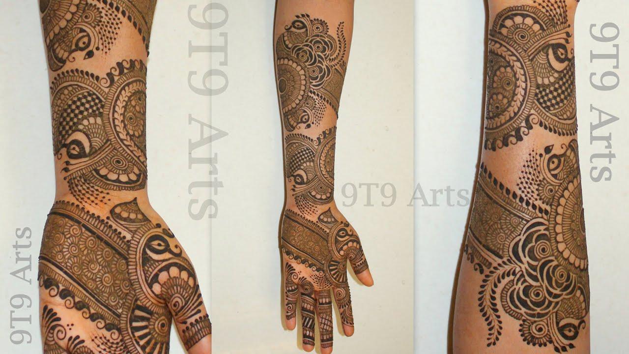 #Shorts | Dulhan Mehndi Designs | Gulf Mehndi | Dubai Style Henna | lady Finger mehandi designs 2021