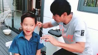 Hài chảy nước mắt - Khi ba cắt tóc cho con trai | Ly Hai Minh Ha Family