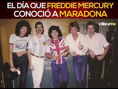 El da que Freddie Mercury y Maradona se conocieron
