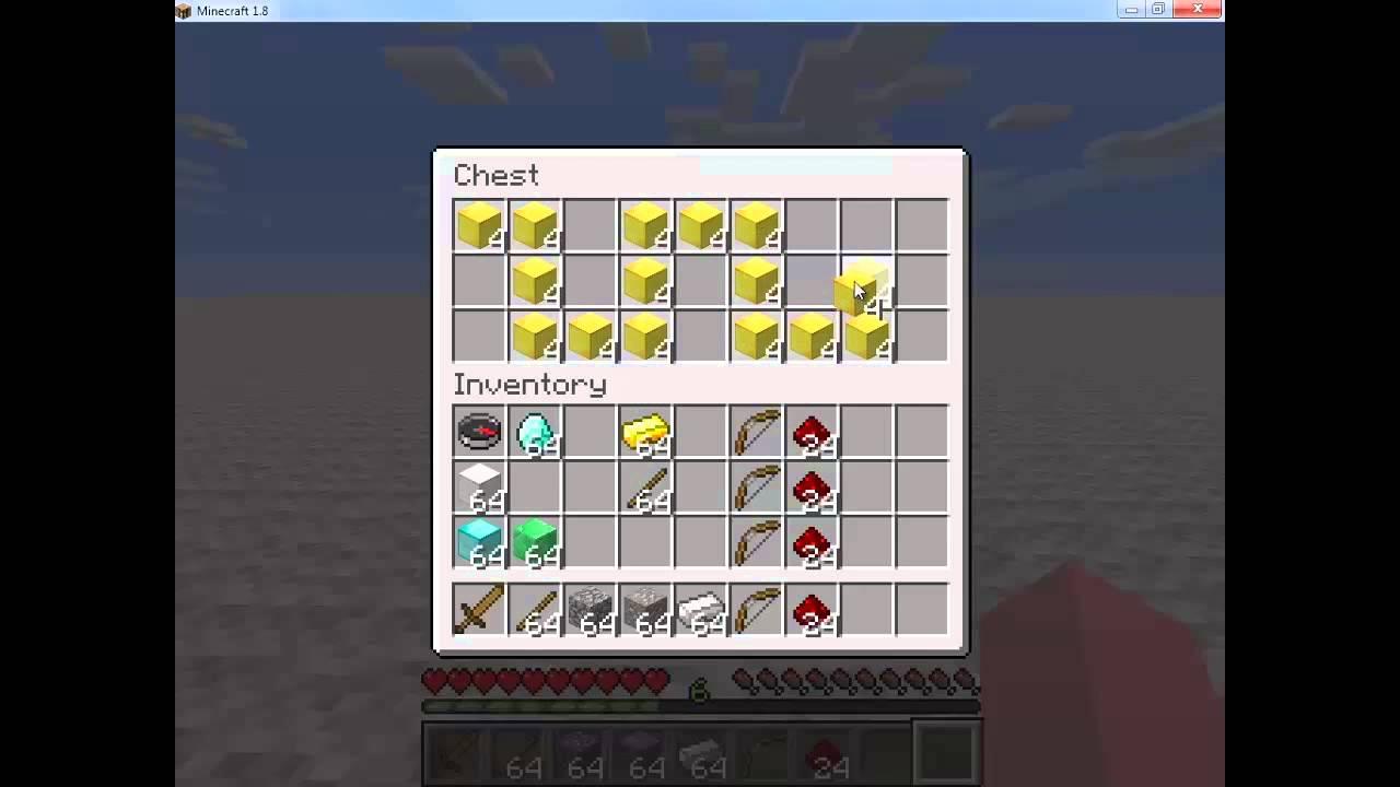 using the minecraft inventory