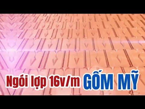 Ngói 16v/m Gốm Mỹ | Ngói Lợp Gốm Mỹ 16v/m | Ngói Lợp Cao Cấp Gốm Mỹ Tại Hưng Yên |GachngoiGomMy.com