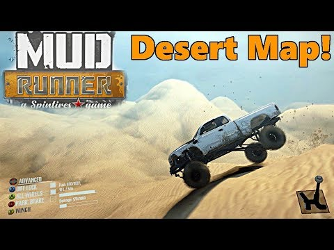 SpinTires Mud Runner: NEW DESERT! Sand Dunes Map!