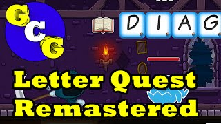 Letter Quest Remastered Gameplay - Boggle/Scrabble Puzzle RPG