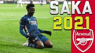 Bukayo Saka 2021 ● Dribbling Skills, Speed & Tackles