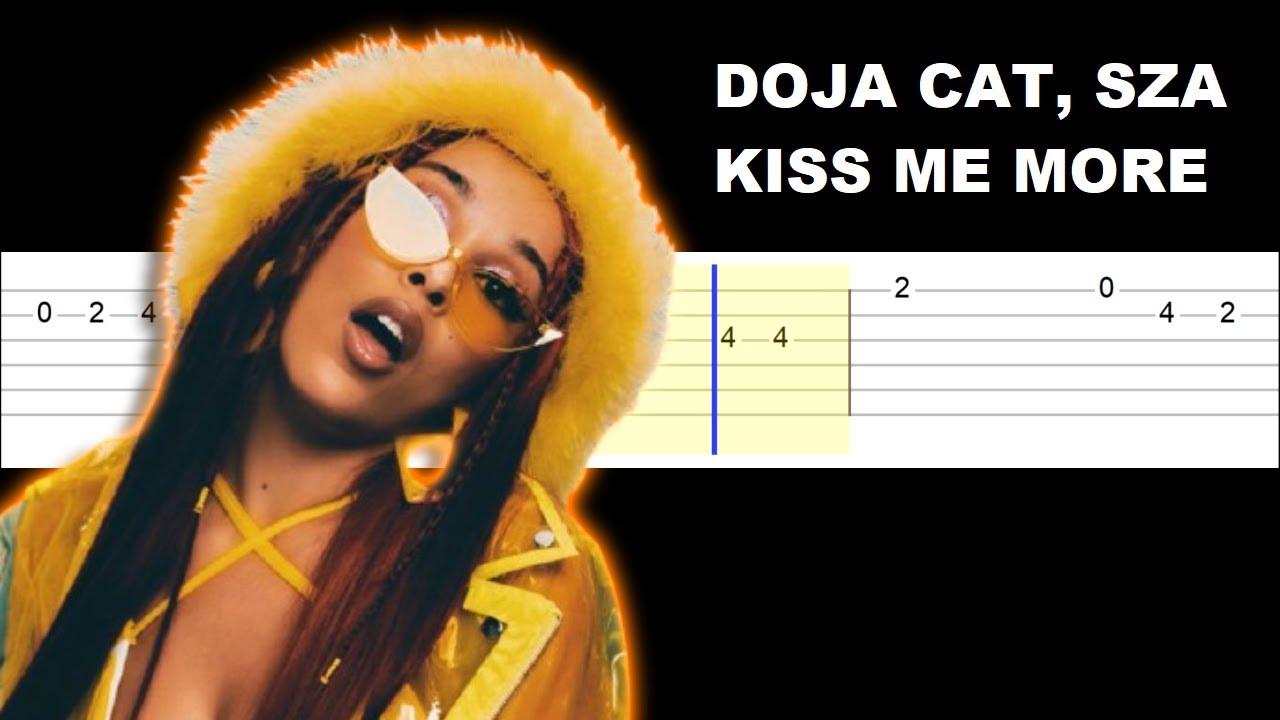 Doja Cat   Kiss Me More ft SZA Easy Guitar Tabs Tutorial