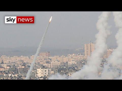Gaza airstrikes 'kill 20' after Hamas fires rockets towards Jerusalem