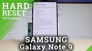How to Factory Reset SAMSUNG Galaxy Note 9 - Restore Defaults / Wipe Data