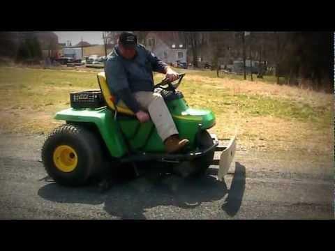 John Deere 1200A Infield Rake Bunker Field Sand Rake FOR SALE - YouTube
