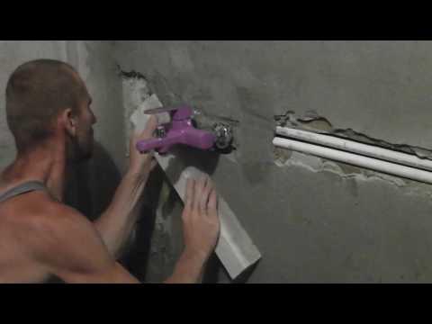 Установка смесителя для ванны без эксцентриков
