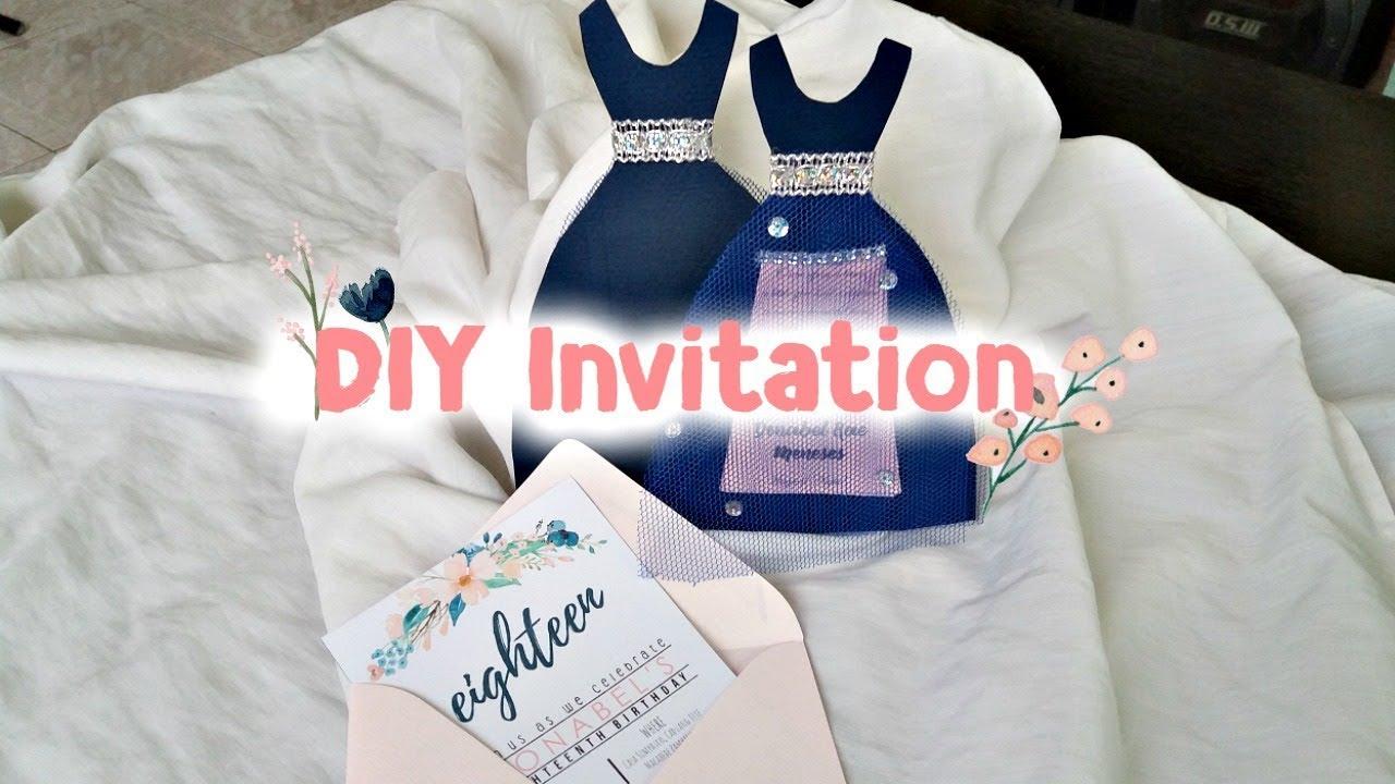 diy invitation debut edition