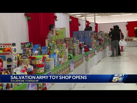 Bengals Players Help Hand Out Toys At Salvation Army's Christmas Toy Shop