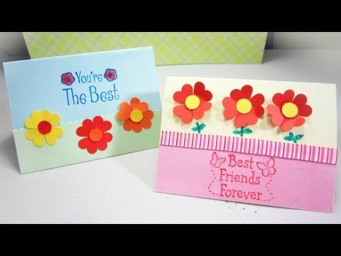 Episodio 546- Cómo hacer una tarjeta con florecitas de ...