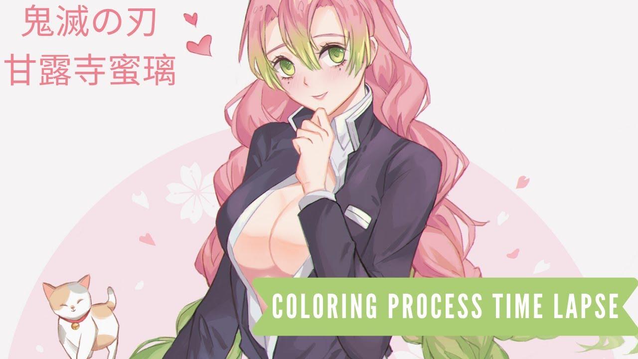 3 ɬ¼æ»…の刃 Kimetsu No Yaiba Kanroji Mitsuri ƈ€æŸ± Digital Painting Process Fanart Youtube The following tags are aliased to this tag: youtube