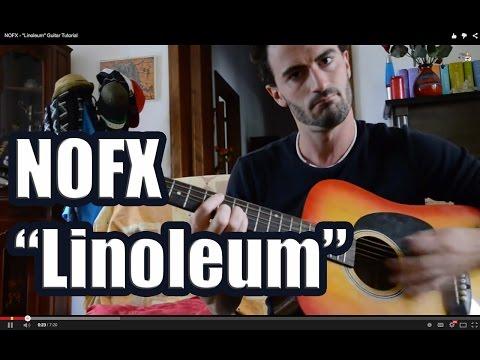 """NOFX - """"Linoleum"""" Guitar Tutorial"""