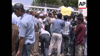WRAP Smoke over mosque, protest against mosque operation, reax