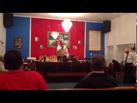 Apostle Charles Marsh preaching at MacDonald Pentecostal Holiness Church Part 1