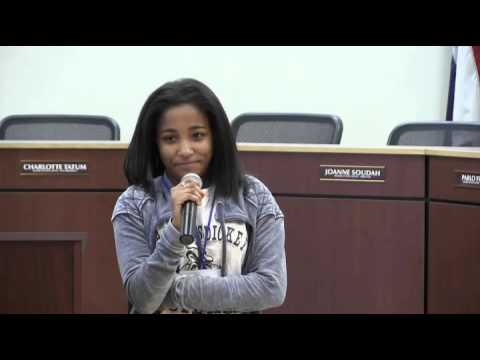 Brittany Woods 2016 Oratorical Contest