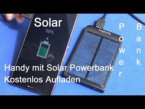 Solar Powerbank kostenlos Akkus aufladen Review