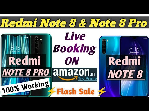 Live booking Redmi Note 8 & Note 8 Pro | how to book Redmi Note 8 & Note 8 pro On Amazon |Flash Sale
