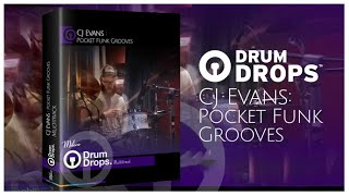 Drumdrops - Pocket Funk By CJ EVans | Acoustic Drum Multitrack Stems Loops Sounds One Shots