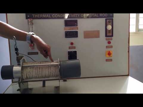 Determination of thermal conductivity of a metal rod