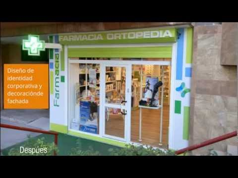 Decoración de fachada farmacia y ortopedia - YouTube