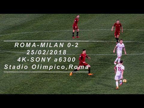 [4K]ROMA-MILAN 0-2 LIVE(Cutrone,Calabria) 25/02/2018 Stadio Olimpico,Curva Nord,Roma-Sony a6300