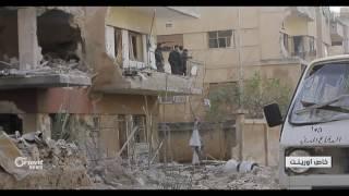 الدفاع المدني في حي الوعر الحمصي يواصل عمله رغم القصف المتواصل