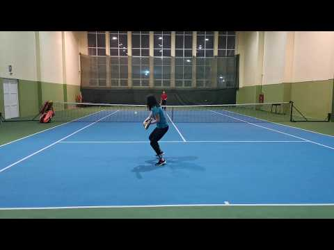 tennis training - two handed backhand