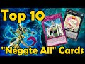 """Top 10 """"Negate All"""" Cards in YuGiOh"""