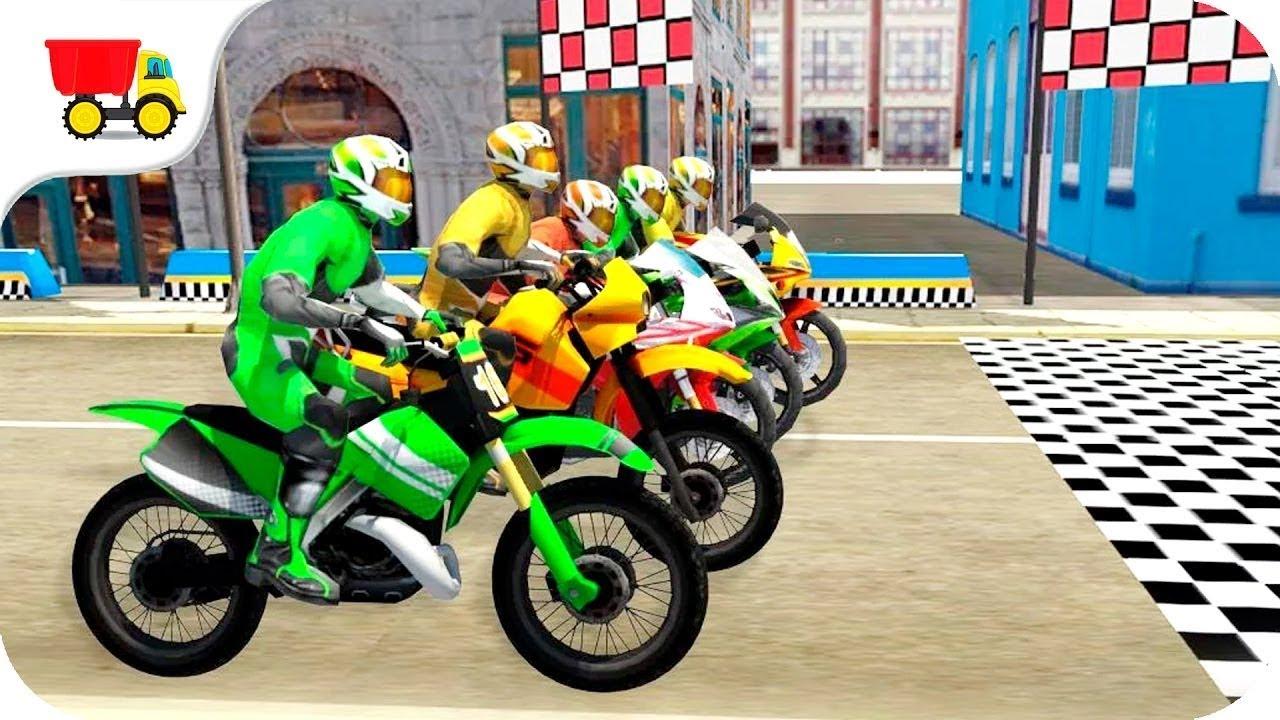 Juegos De Motos Para Niños Carreras De Motos 2017 Youtube